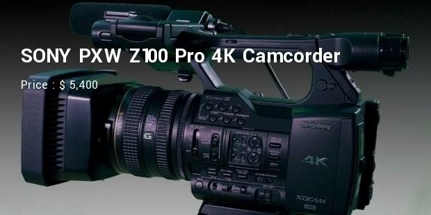 sony pxw  z100 pro 4k camcorder