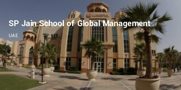 sp jain school of global management  uae