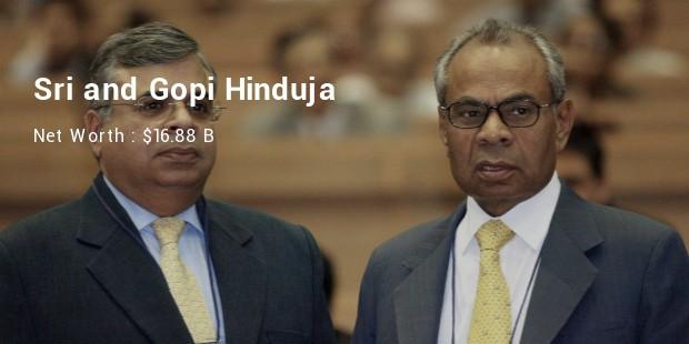 sri and gopi hinduja net worth