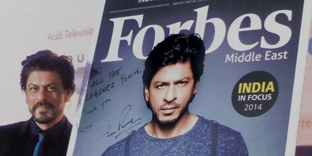 srk in forbes list