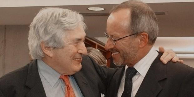 stephan schmidheiny et l ancien prsident de la banque mondiale james wolfensohn en octobre 2003