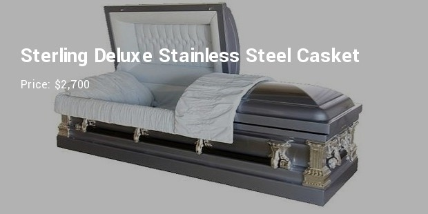 sterling deluxe stainless steel casket