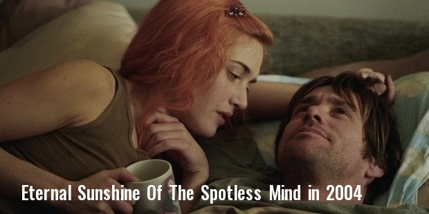 still of jim carrey and kate winslet in eternal sunshine of the spotless mind  2004  large picture