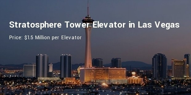 stratosphere tower elevator in las vegas