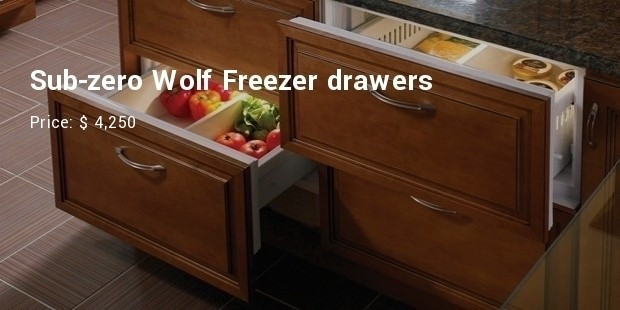 Sub-zero Wolf Freezer drawers