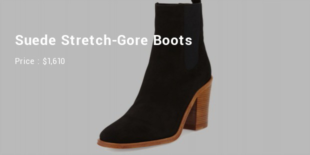 suede stretch gore boots