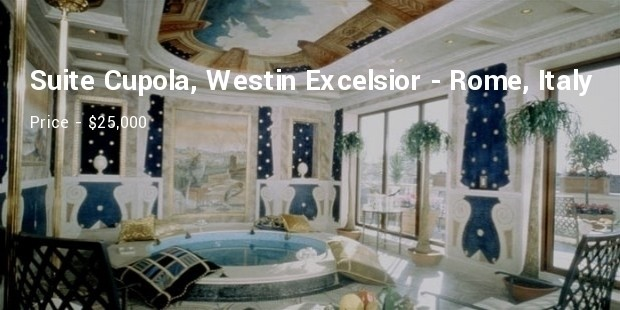 suite cupola, westin excelsior   rome, italy