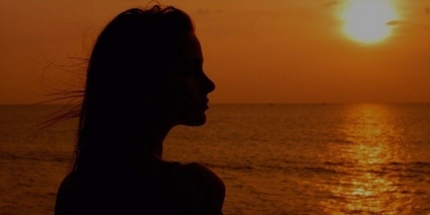 sunset girl silhouette hd wallpaper 86529