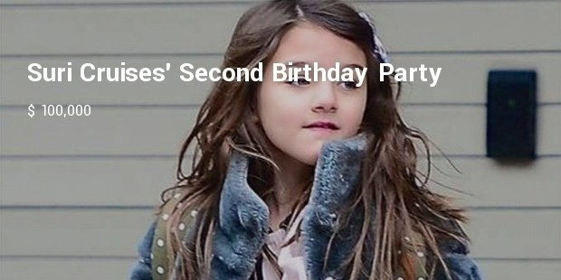 suri cruises second birthday party