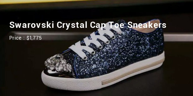 swarovski crystal cap toe sneakers