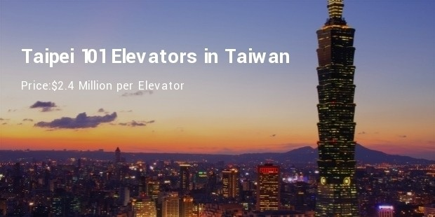 taipei 101 elevators in taiwan