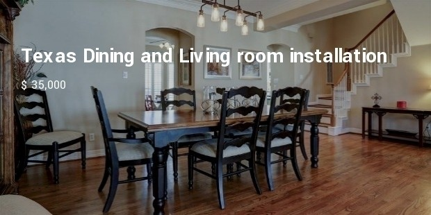texas dining and living room installation