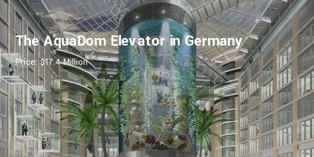 the aquadom elevator in germany