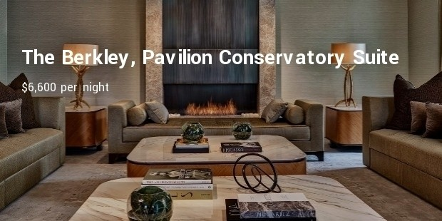 the berkley, pavilion conservatory suite