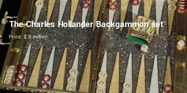 the charles hollander backgammon set