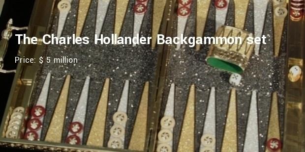 the charles hollander backgammon set