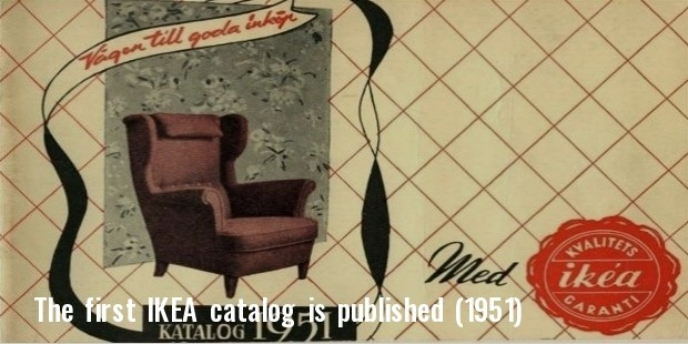 the first ikea catalog is published  1951