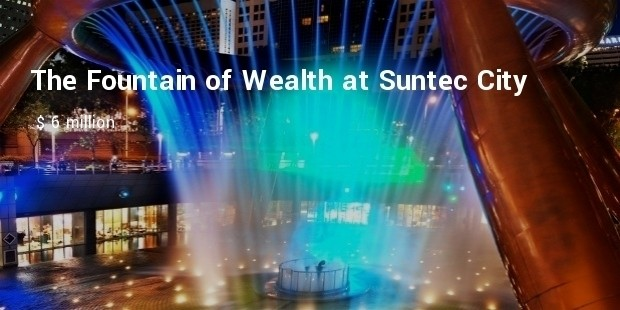 the fountain of wealth at suntec city complex