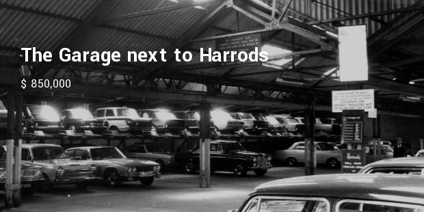 the garage next to harrods