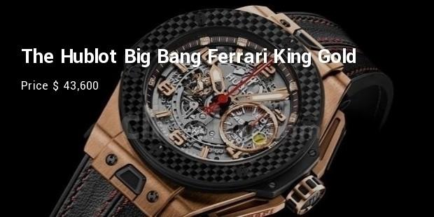 the hublot big bang ferrari king gold