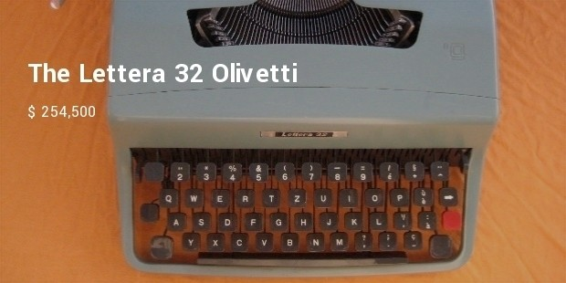the lettera 32 olivetti manual machine