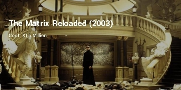 the matrix reloaded  2003    $1