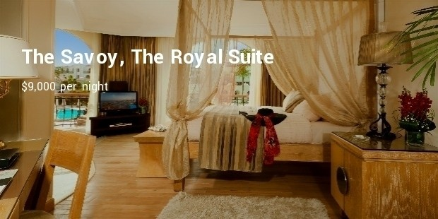 the savoy, the royal suite