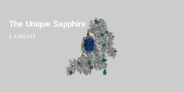the unique sapphire and multi gem cote dazur brooch, by anna hu