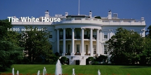 the white house 54895 square feet