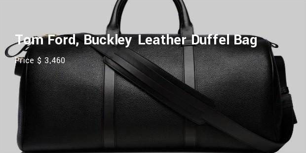 tom ford, buckley leather duffel bag