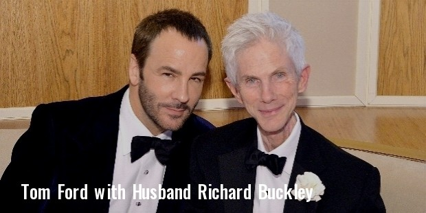 tom ford with cool, husband richard buckley