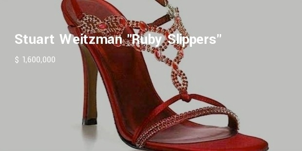 top 10 most expensive womens shoes in the world ruby slippers by stuart weitzman