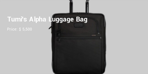 tumi alpha luggage bag