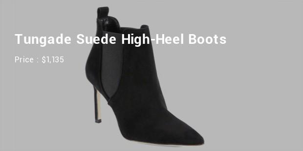 tungade suede high heel boots