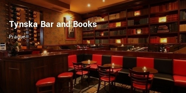 tynska bar and books  prague
