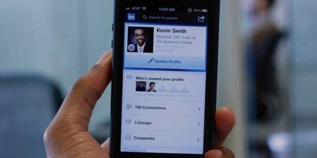 update profile on professional social media