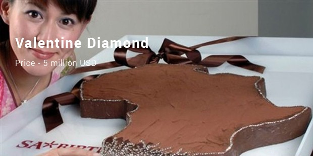 Valentine Diamond Chocolate Cake