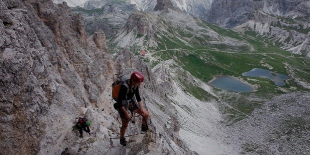 via ferrata in italian dolomites