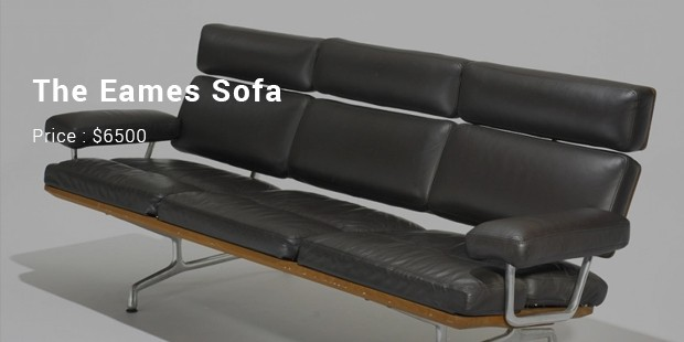 The Eames Sofa Is A Luxurious Sofa That Fits Three People And Is Finished  With Leather.It Uses Aluminium Legs And Thick Urethane Filled Cushions That  Are ...