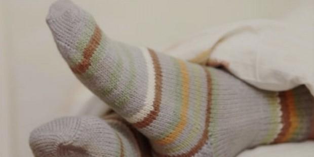 wearing socks in bed