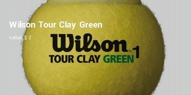 wilson tour clay green
