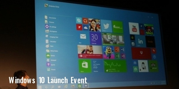 windows 10 release date event