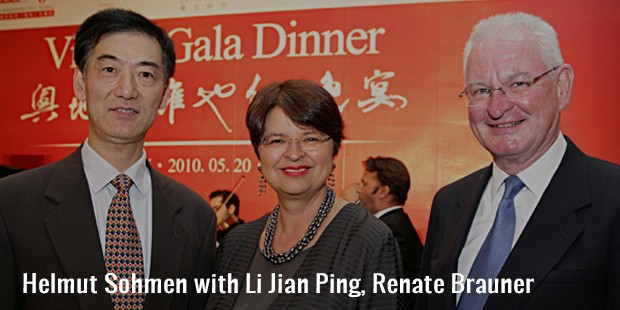 with li jian ping, renate brauner and helmut sohmen