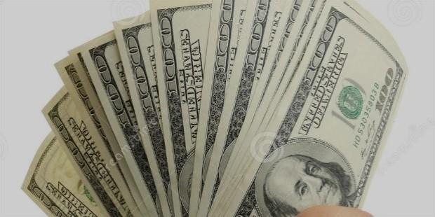 woman hand dollar bills dollars isolated white background 34955400