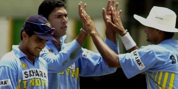 yuvraj singh in his first match