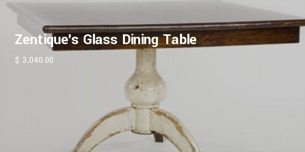 zentique glass dining table