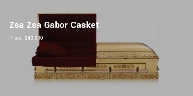 zsa zsa gabors casket