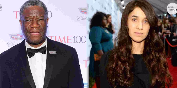 Dr. Denis Mukwege and Nadia Murad