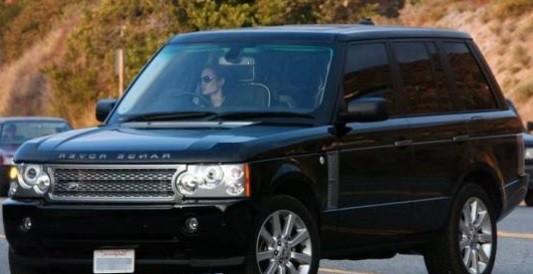 Angelina Jolie's Range Rover