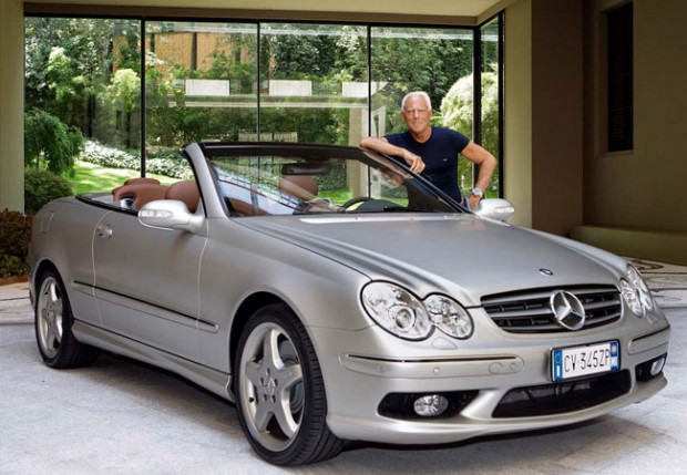 Armani with His Mercedes Benz Car